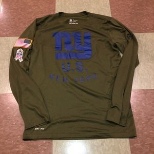 NY giants salute your soldier LS tee T-shirt sm